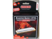 Hohner Marine Band 1896 Harmonica Key Of A