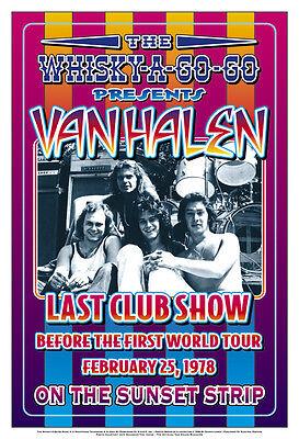 Heavy Metal:  Van Halen at the  Whisky A Go Go Los Angeles Concert Poster 1978