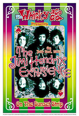 Jimi Hendrix at The Whisky A Go Go in L.A. Concert Poster 1967