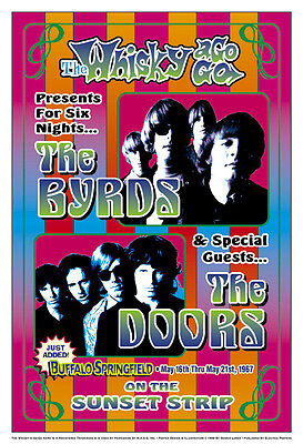The Byrds at the Whisky A Go Go Concert Poster 1967