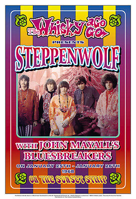 Steppenwolf at the  Whisky  A Go Go Concert Poster 1968