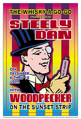 Steely Dan  at The Whisky A Go Go Concert Poster 1972  13 3/4 x 19 3/4