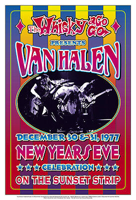 Heavy Metal:  Van Halen at The  Whisky A Go Go Los Angeles Concert Poster 1977