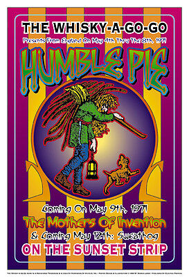 Psychedelic: Humble Pie at the Whisky A Go Go Concert Poster 1971