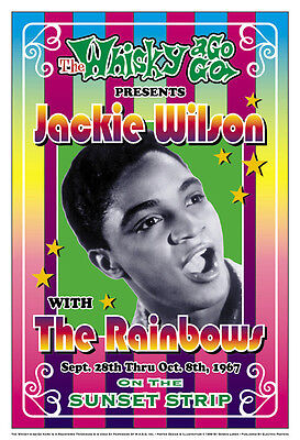 R&B Soul: Jackie Wilson  at The Whisky A Go Go Concert Poster 1967