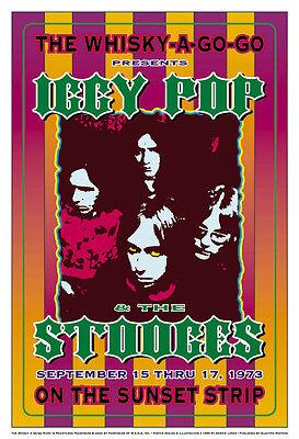 Original PUNK: Iggy Pop & Stooges at the  Whisky Concert Poster 1973