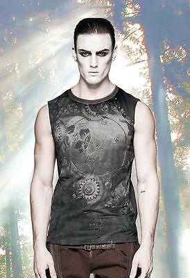 Gothic Steampunk Nugoth Shirt Men Tank Top Gears Zahnräder Punkrave S M L XL XXL
