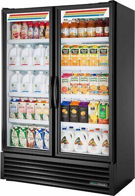 True Flm-54tsl01 Black 2 Door Glass Reach-in Cooler Refrigerator Merchandiser