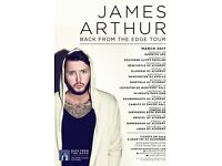 4 x standing tickets to James Arthur, Thursday 9th March, O2 Academy, Newcastle