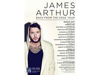 2 James Arthur tickets for 24/03/2017 in Birmingham!