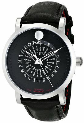 Movado Red Label Automatic Leather Mens Watch 0606697
