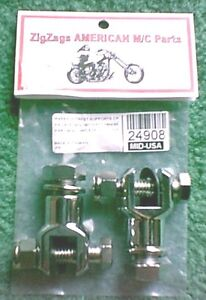 Chrome Highway Foot Peg Footpeg Clevis Mounts Harley Davidson