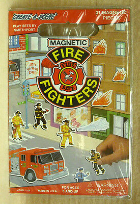 SMETHPORT - MAGNETIC PLAYSET - FIRE FIGHTERS  - NEW - MADE IN USA     #ZSME-7126 Playset Smethport Toys