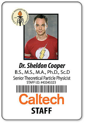 1 NAME BADGE HALLOWEEN COSTUME PROP SHELDON COOPER BIG BANG THEORY MAGNETIC BACK - Big Bang Theory Halloween Costumes