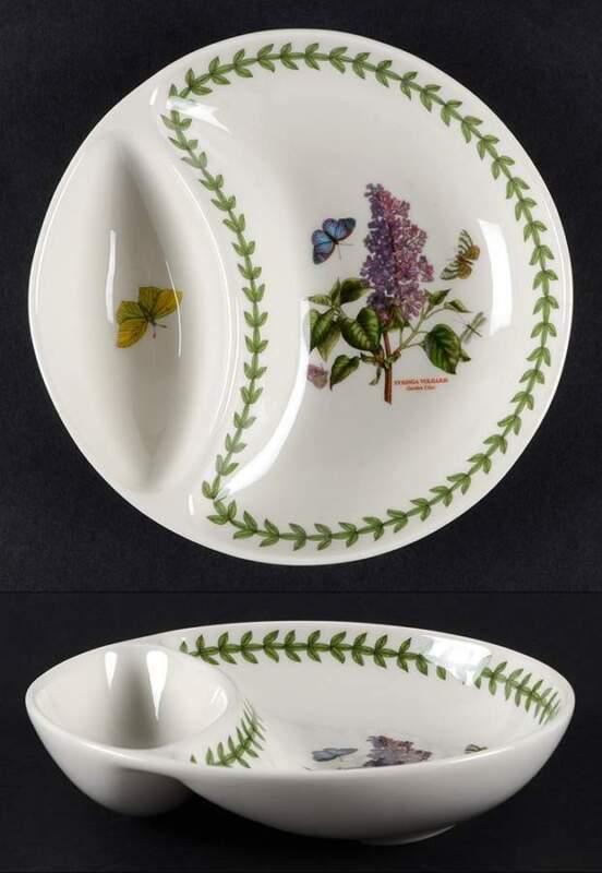 """Portmeirion Botanic Garden 6"""" Divided Dish 10843152"""