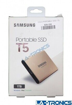 Samsung MU-PA1T0G Portable SSD T5 1TB External USB 3.1 Hard Drive Rose Gold