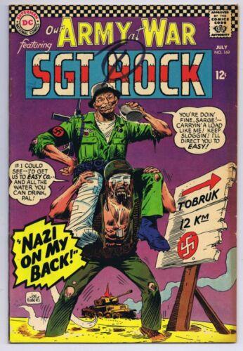 Our Army at War #166 ORIGINAL Vintage 1966 DC Comics Sgt Rock