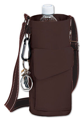 Go Caddy Multi Compartment Water Bottle Holder - Brown