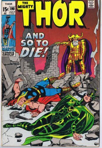 Thor #190 ORIGINAL Vintage 1971 Marvel Comics