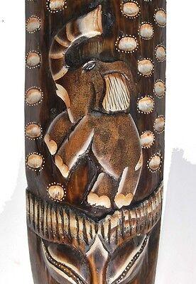 nt Schildkröte Holzmaske Dekomaske wooden mask (Elefant Maske)