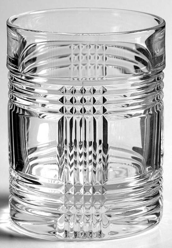 Ralph Lauren Crystal Glen Plaid Old Fashioned Glass 5730285