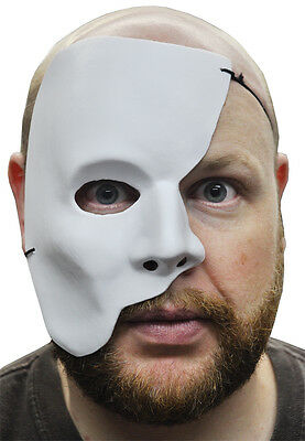 PHANTOM OF THE OPERA HALF FACE WHITE MARDI GRAS ADULT MASQUERADE COSTUME MASK  (White Face Mask Costume)
