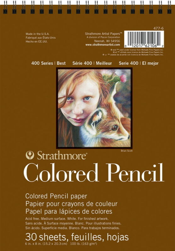 Strathmore 400 Series Colored Pencil Pad, 6 x 8 Inches, 30 Sheets