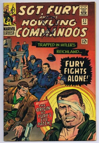 Sgt Fury and His Howling Commandos #27 ORIGINAL Vintage 1966 Marvel Comics