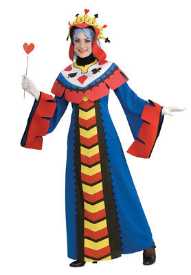 Playing Card Queen Adult Womens Costume Funny Theme Headpiece Party Halloween