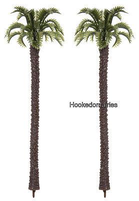 Diorama Tree Palm set of 2 Dollhouse Miniature Fairy Garden Crafts DA 3700-27