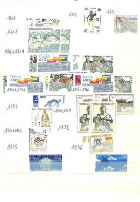 [OP7657] Italy lot of stamps on 12 pages