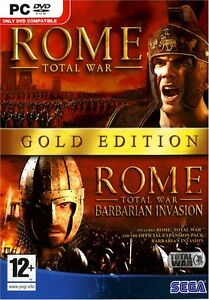ROME TOTAL WAR GOLD W/BARBARIAN EXPANSION for (PC DVD) SEALED NEW