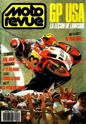 MOTO REVUE 2843 HONDA GL 1500 Gold Wing DAYTONA Story Grand Prix des USA 1988 ()