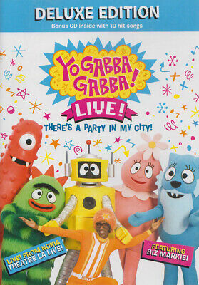 YO GABBA GABBA - THERE S A PARTY IN MY CITY (LIVE CONCERT) (DELUXE EDITION (DVD) - Party City Yo Gabba Gabba