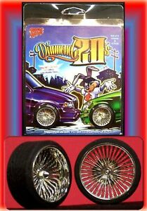 Hoppin Hydros 1/24 1/25 scale DIAMOND 20's Chrome Rims Wheels Tires Model Cars