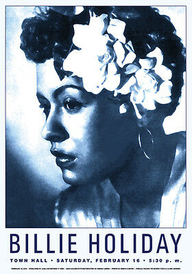 Billie Holiday at TownHall New York City Concert Poster Circa 1948  17 x 24
