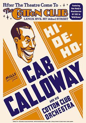 Big Band Jazz: Cab Calloway at Cotton Club Harlem Concert Poster 1931