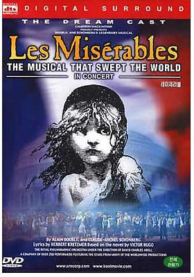 Les Miserables The Dream Cast In Concert (1998) 10th Anniversary Concert DVD NEW