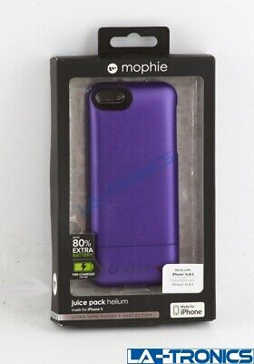 New Mophie Juice Pack Helium 2468 for Iphone 5 Recharging Portable Case - PURPLE