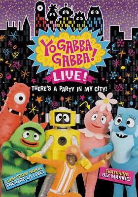 YO GABBA GABBA - THERE S A PARTY IN MY CITY (LIVE CONCERT) (DVD) - Party City Yo Gabba Gabba