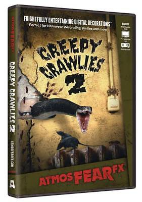 Halloween Prop - AtmosFearFx CREEPY CRAWLIES DVD for TV or window projection
