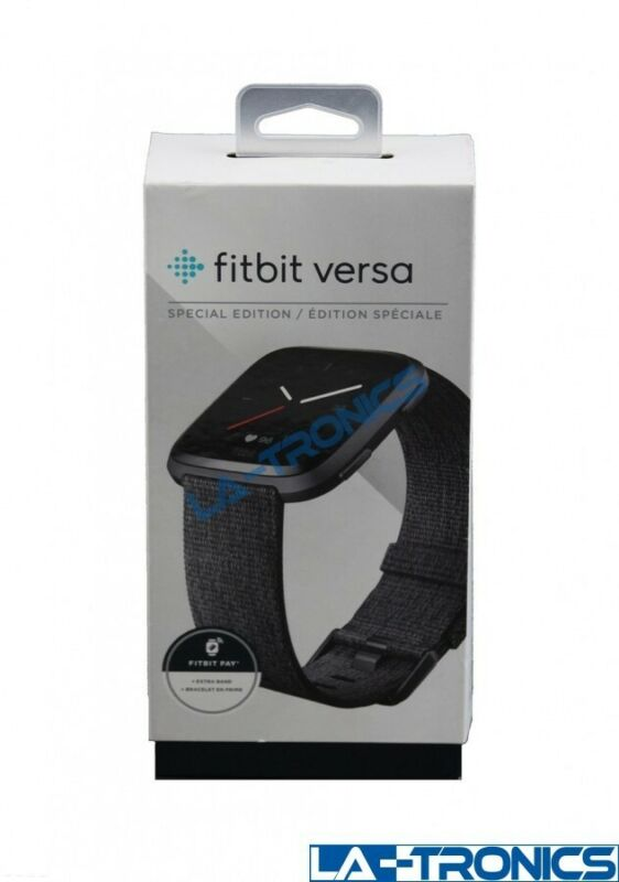 Fitbit Versa Special Edition Smart Fitness Watch - Graphite/Black FB505BKGY