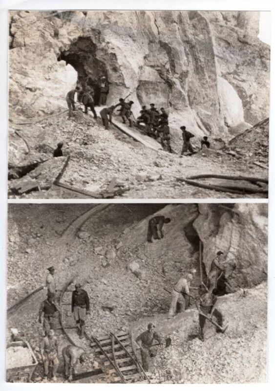 1941 Digging Tunnels at Gibraltar Original News Photo