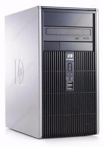 Tour Micro HP DC5750 Atlon 2.2 Ghz Dual Core - Mémoire 4 Go - Disque 160 Go - Graveur DVD - Windows 7 familiale