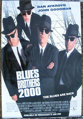 BLUES BROTHERS 2000 ONE SHEET VIDEO MOVIE POSTER 1998 DAN AYKROYD JOHN GOODMAN