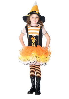 Candyland Witch Child Girls Costume Trimmed Layered Skirt Fancy Dress Leg Avenue