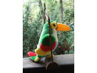 Talking Toucan Bird - Sound Activated Parrot and Perch Swing