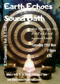 Sound Bath Meditiation Relaxation Live Music Gongs Singing Bowls Chimes Didgeridoo