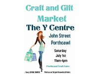 July Craft and Gift Market At The Y Centre, Porthcawl