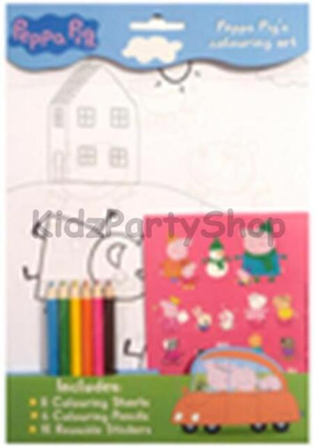 Peppa Pig & George Party - Colouring Set + Stickers - Free Post in UK